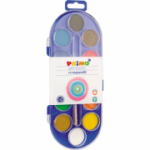 Acuarele Morocolor, diametru pastila 30 mm, 12 culori/cutie (MC15402)