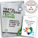 Textul nonliterar, Textul literar - Concepte teoretice si fise de lucru, clasele IX-XII - Alina Manea
