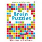 Brain Puzzles. Wipe-clean cards with pen