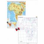 Africa. Harta fizico-geografica si a principalelor resurse naturale de subsol (CR-3119A 120x160 cm)
