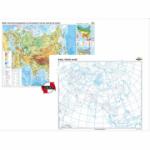 Asia Harta fizico-geografica si a principalelor resurse naturale de subsol 160x120 cm (Duo) CR-3111DA
