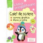 Caiet de scriere - semne grafice, litere si cifre pentru clasa pregatitoare - Nicoleta Popescu, Cristina Martin