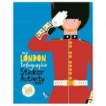 My London Infographic Sticker Activity Book - Kay Barnham