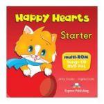 Curs limba engleza Happy Hearts Starter Multi-Rom - Jenny Dooley, Virginia Evans