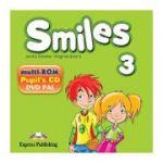 Curs limba engleza Smiles 3 Multi-ROM - Jenny Dooley, Virginia Evans