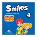 Curs Limba Engleza Smiles 4 Multi-ROM - Jenny Dooley, Virginia Evans