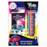 Trolls 2 Colouring Play Pack - Set de colorat cu autocolante si creioane colorate
