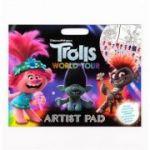 Trolls 2 Artist Pad - Set de colorat cu autocolante