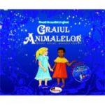 Graiul animalelor. Basme, povestiri africane. Carte de povesti, carte de colorat + CD