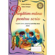 Caiet pentru grupa mare/pregatitoare - Pregatim mana pentru scris (semne grafice)