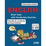Exercitii de vocabular pe baza textelor- engleza