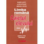 Caietul elevului clasa a VII-a. Literatura - Marin Iancu