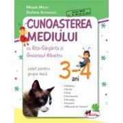 Cunoasterea mediului cu Rita Gargarita si Greierasul Albastru - (caiet) grupa mica 3-4 ani