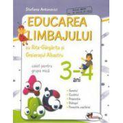 Educarea limbajului cu Rita Gargarita si Greierasul Albastru - caiet grupa mica (3-4 ani)
