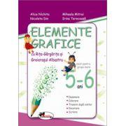 Elemente grafice cu Rita-Gargarita si Greierasul Albastru (5-6 ani) - Alice Nichita