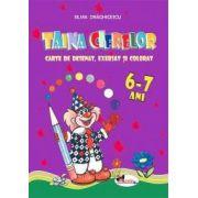 Taina cifrelor - carte de colorat, exersat si numarat. 6-7 ani