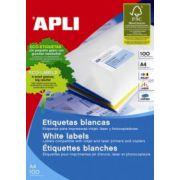 Etichete autoadezive Apli, 8/A4, cu colturi rotunjite, 800 buc