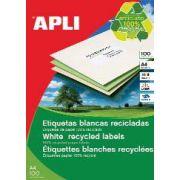 Etichete autoadezive Apli, din hartie reciclata, 14/A4, 1400 buc