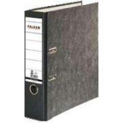 Biblioraft Falken marmorat, A4, 80 mm, negru