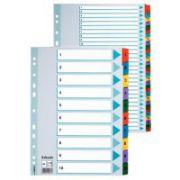 Separatoare cu index colorat laminat Esselte, 1-10