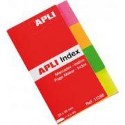 Index autoadeziv Apli, 20x50mm, 4 culori/set