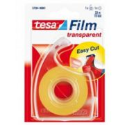 Banda adeziva de birou transparenta Tesa cu dispenser, 19mm x 33m