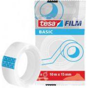 Banda adeziva de birou transparenta Tesa Basic, 12mm x 33m