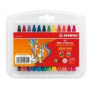 Creioane cerate Stabilo Yippy, 12 buc/cutie