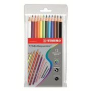 Creioane colorate Aquacolor, 12 buc/blister