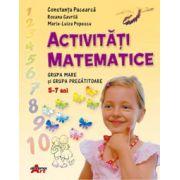 Activitati matematice (grupa mare si pregatitoare) - (Constanta Pacearca)