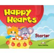 Happy Hearts, Starter, Pupils Pack (Curs de limba engleza pentru prescolari cu multirom si fise de lucru )