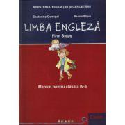 Limba Engleza, Firm Steps. Manual pentru clasa a IV-a - Ecaterina Comisel
