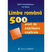 500 de erori de exprimare explicate - limba si literatura romana