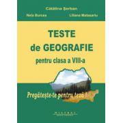 Teste de geografie (Clasa a VIII-a)