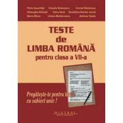 Teste pentru clasa a VII-a - Limba si literatura romana