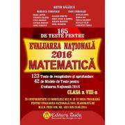 Matematica 165 de teste pentru Evaluare Nationala 2016 (Artur Balauca)