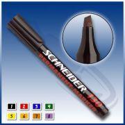 Marker permanent, Schneider Seria 130, Culoare Albastru (capac in culoarea scrierii)-SCH001005
