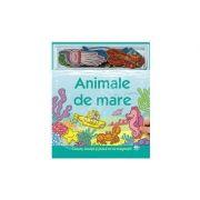 Animale de mare. Carte cu magnet