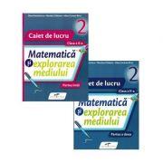 Caiet pentru clasa a II-a. Matematica si explorarea mediului. Set 2 caiete, Semestrele I si II - Iliana Dumitrescu
