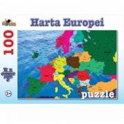 Harta Europei - Puzzle 100 piese (NOR4681)