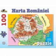 Harta Romaniei - Puzzle 100 piese (NOR4674)