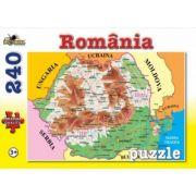 Harta Romaniei - Puzzle 240 piese (NOR4544)
