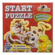 Animalute Fericite - Start Puzzle 4 in 1 (NOR4452)