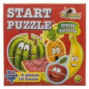 Fructe fericite - Start Puzzle 4 in 1 (NOR4445)
