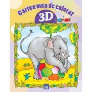 Cartea mea de colorat 3D. Povestioare scurte despre animale