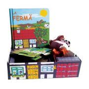 La ferma. Set carte, puzzle, jucarii, figurine lemn
