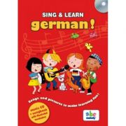 SING & LEARN - GERMAN - music CD+songbook with illustrated vocbulary