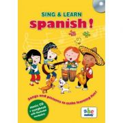 Sing and learn Spanish. Music CD and songbook with illustrated vocabulary
