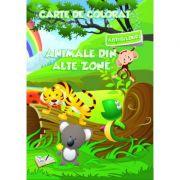 Carte de colorat cu abtibilduri. Animale din Alte Zone