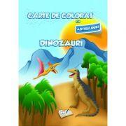 Carte de colorat cu abtibilduri. Dinozauri